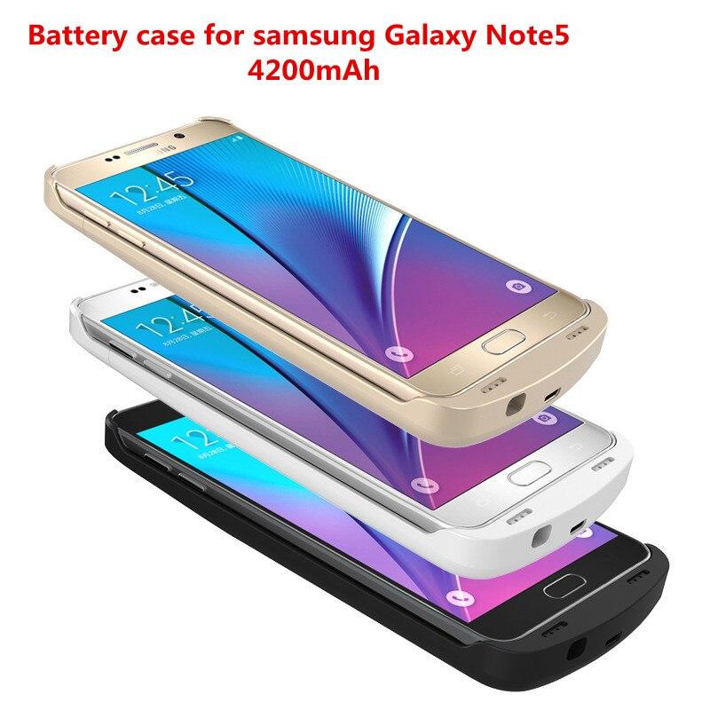 imágenes para Note5 n9200 teléfono extender batteria 4200 mah carga de la batería banco de la energía del cargador de batería del caso para samsung galaxy note 5 note5 n9200