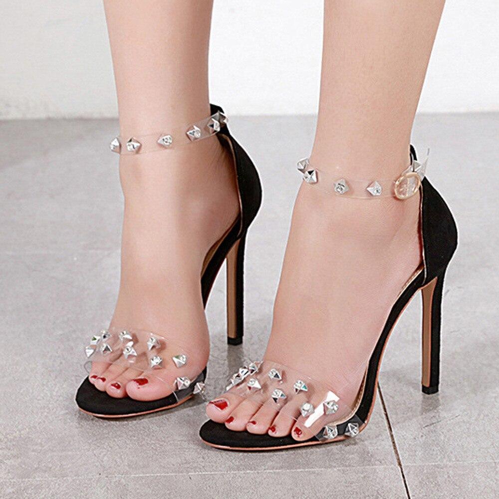 62 26 Tamaño Niñas caqui Correa Sexy Bombas Señora Sandalias Mujeres Diamantes Boda Hebilla Negro Del La Martin Romano Partido Gladiador Talón Zapatos De HpUwRq8
