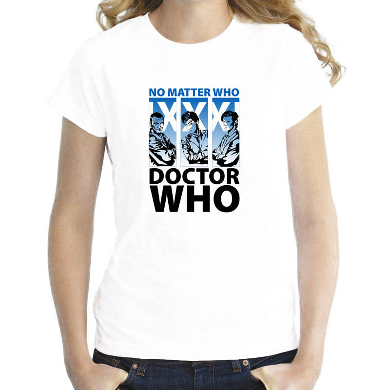 T Shirts Summer Hipster Casual Women O-Neck Doctor Who Short-Sleeve Tee Shirts