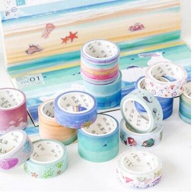 16PCS/LOT Ultra Wide Japanese Northern Europe Re Diary Album DIY Ornament Decorative Paper Tape Masking Tape Washi Tape