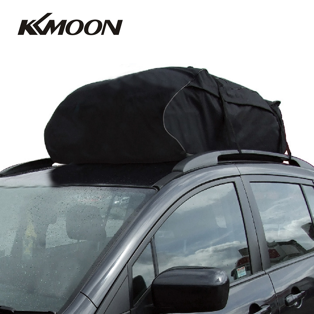 Car Top Bag Travel Storage Waterproof Roof Top Cargo Carrier BLK 20 Cubic Feet