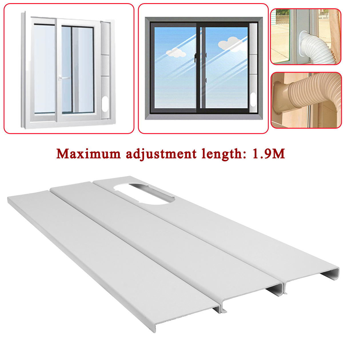 Air Lock Window Seal Plate 400cm Portable for Living Room Air Conditioner KZ