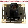 5Megapixel 2592x1944 Mjpeg cctv camera Aptina MI5100 Color CMOS Sensor high quality CCTV micro mini usb camera board module 5mp