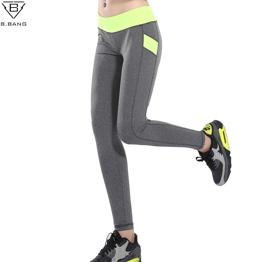 Prix pour B. BANG Femmes Yoga Pantalon Patchwork Crayon Pantalon Femme Taille Basse Fit Sport Serré Élasticité Fitness Libres Leggings