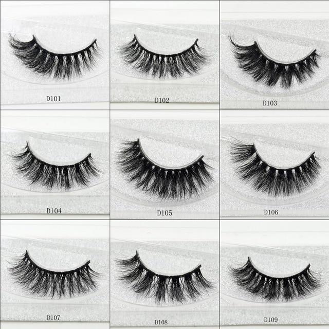 visofree 3D Mink Lashes Eyelash Extension 100% Handmade Thick Volume Long False Lash Makeup Giltter Packing 1 Pair D110 1