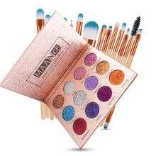 Value female cosmetics tools kit 15 pcs makeup brushes set+1