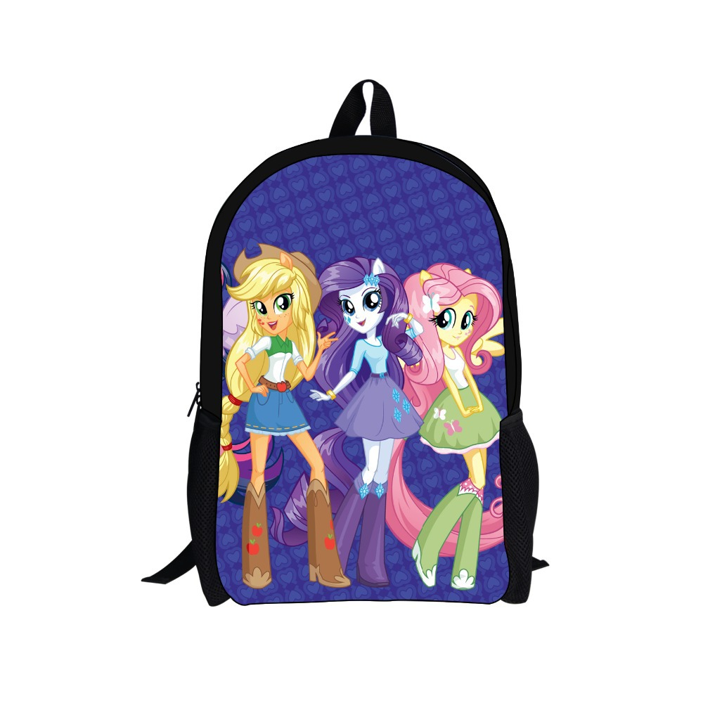 FORUDESIGNS Casual Women Backpack Cute Pony Back Pack For College Girls 3D Cartoon Bags Men Travel