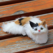 Cute Mini Simulation Lucky Toy Cat Lying On The Seat About 16*9*6CM