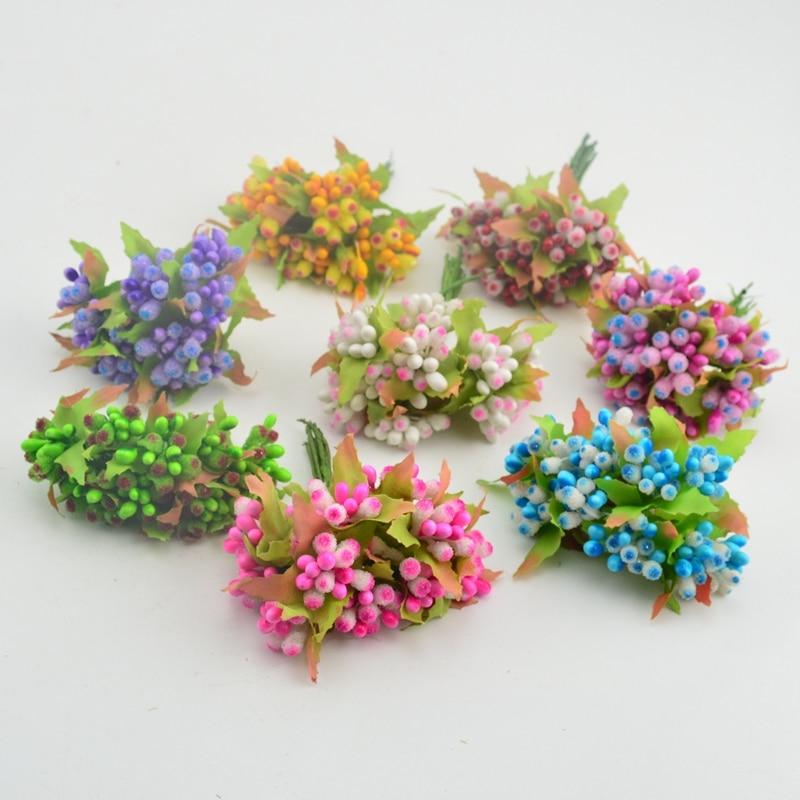 10pcs mini berry stamens artificial flower wedding scrapbook decoration DIY wreath gift craft flower