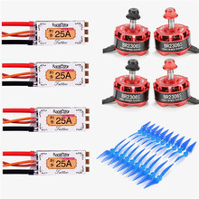 Racerstar 2306 BR2306S 2400KV 2-4S Brushless Motor TATTO 25A Blheli_32bit ESC 5038 2 Blade Propeller Combo for Racing RC Drones