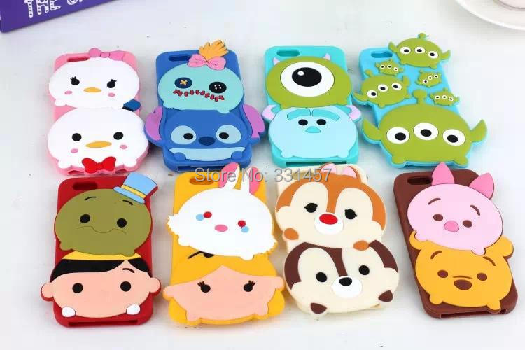 MOQ Cartoon 3D Silicone Phone Case Lovely Sully Mike Stitch Winnie Chip Mobile Back Cover iPhone 6 4.7 inch - Top-Way Electronic Technology co., LTD store