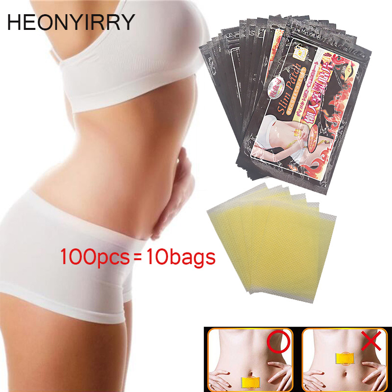 Slimming Stick 100 Pieces 10 Bags Slimming Navel Sticker Slim Patch font b Weight b font