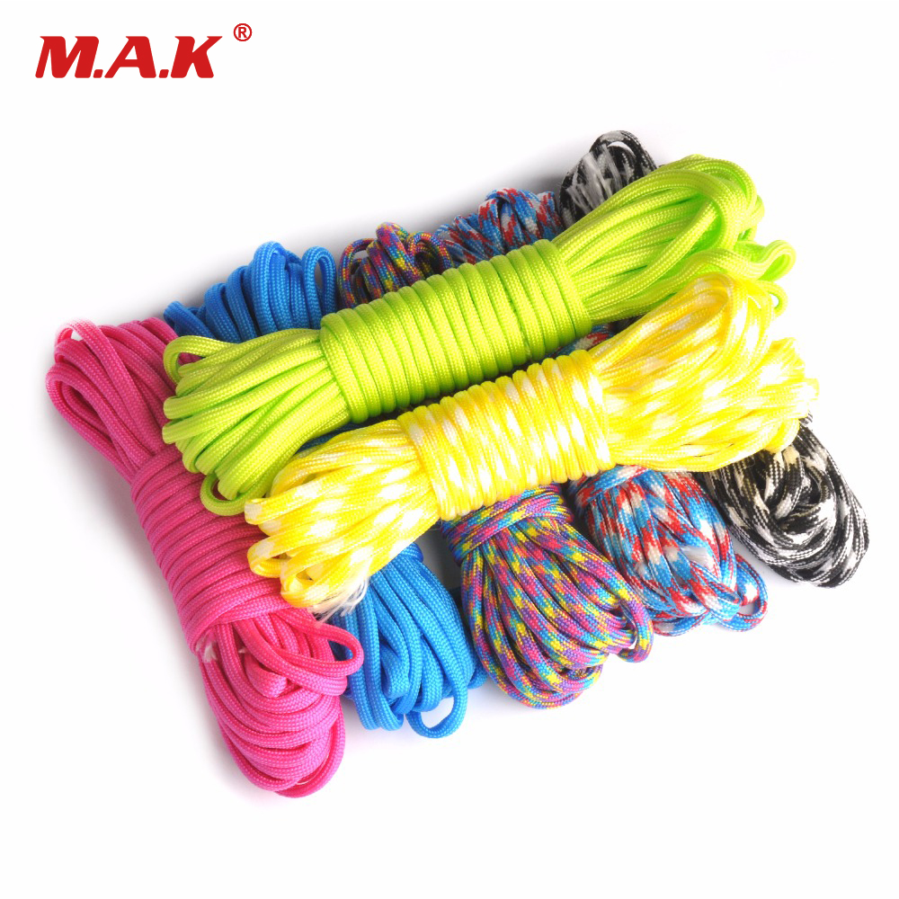 100FT Paracord 550 Parachute Cord Lanyard Rope Mil Spec Type III 7 Stand Climbing Camping Survival Rope outdoor 25ft 50ft 100ft 550 paracord parachute cord lanyard rope mil spec type iii 7 stand survival rope for climbing