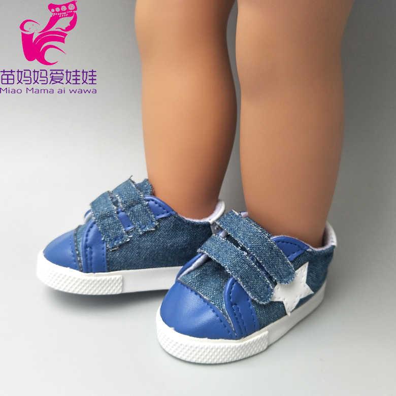 7.5 سنتيمتر دمية أحذية sneackers ل 18 بوصة دمية أحذية رياضية ، 17 بوصة حذاء طفل دمية