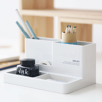 Deli Stationery Multi Functional Creative Fashion Pen Holder Desktop Decoration Office Supplies Storage Box Pen Holder