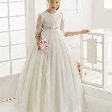Индивидуальный заказ милые дети платье с цветочным узором для девочек платье для первого причастия вечеринка по случаю Дня Рождения, праздник платье принцессы Платье с кружевными цветами для девочек
