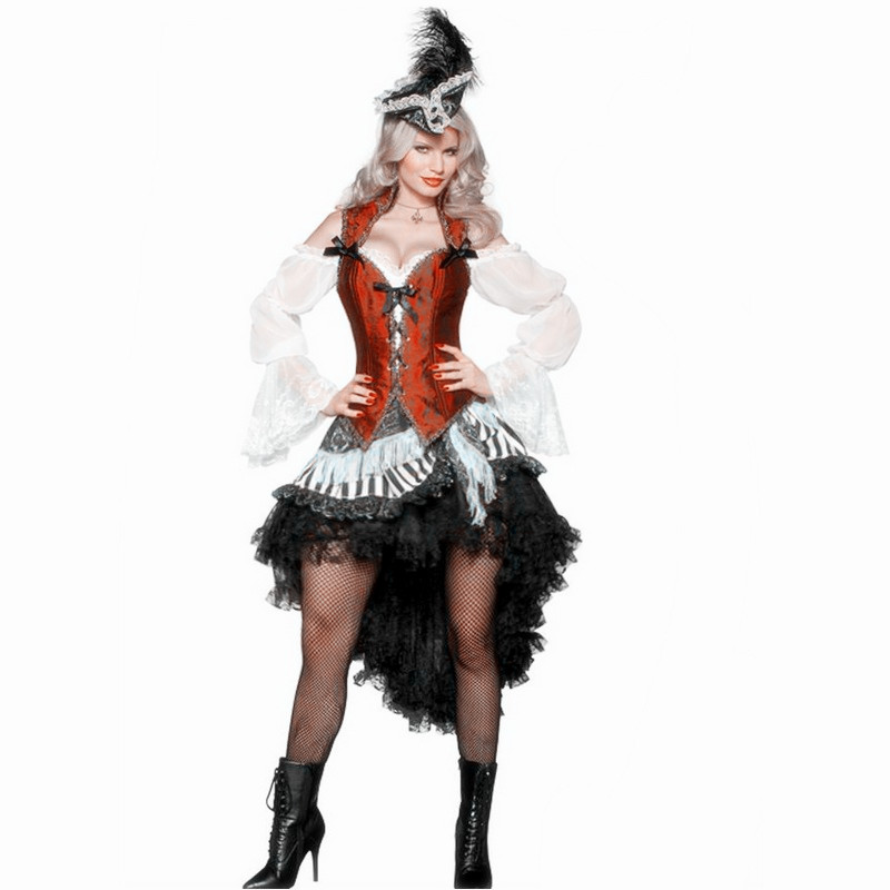 Halloween Sexy Woman Pirate Costume corsair Queen Cosplay Carnival Masquerade Party Dress halloween queen cosplay dress