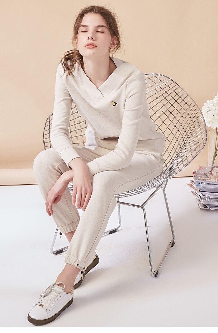 Coton Top À 2018 beige La Américain Mode Femmes Costume Pink Plein Loisirs Automne Arrivée Nouvelle ardoisé Pantalon Jeans Et Chaud Col Plus XwqqCpx0