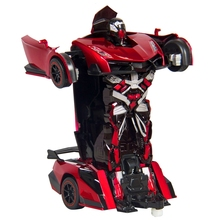 FB FUNNY BOX Kids Toy Transformer RC Robot Car Remote Control Toy(Red)
