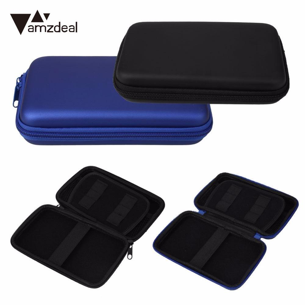 amzdeal EVE Carry Hard Storage Cover Pouch Sleeve Cases For Nintendo 3DS XL LL Console 17x10cm black and blue high qualtiy crystal clear hard protective shell skin case cover for nintendo 3ds xl ll new
