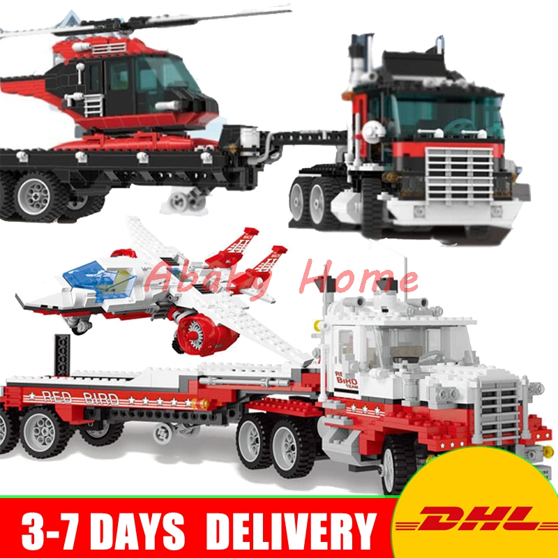 DHL Lepin Technic Series 21016 Turbine Super Truck+ 21017 Mach II Red Bird Rig Education Building Blocks Bricks Toys 5590 5591 compatible legoe genuine model series 5591 lepin 21017 1206pcs mach ii red bird rig building blocks bricks toys for children