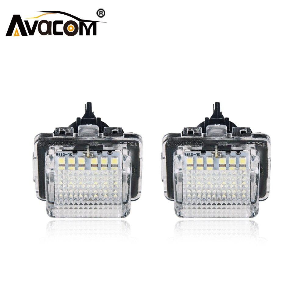 Avacom 2 шт. светодиодный автомобилей номерных знаков Свет Canbus Ошибок 6500 К белый свет для Mercedes W204 W212 C207 C216 w221 S204 S212 E250