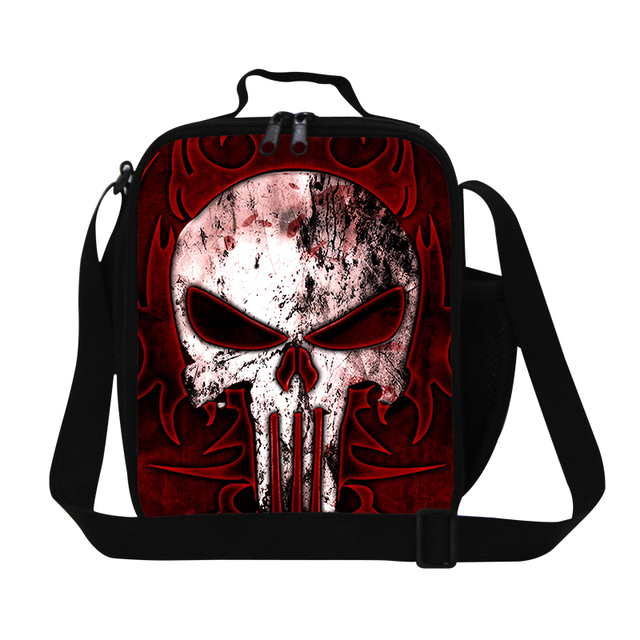 Best Skull Prinitng Lunch Bag For S Insulated Crossbody Box Men Work Cool