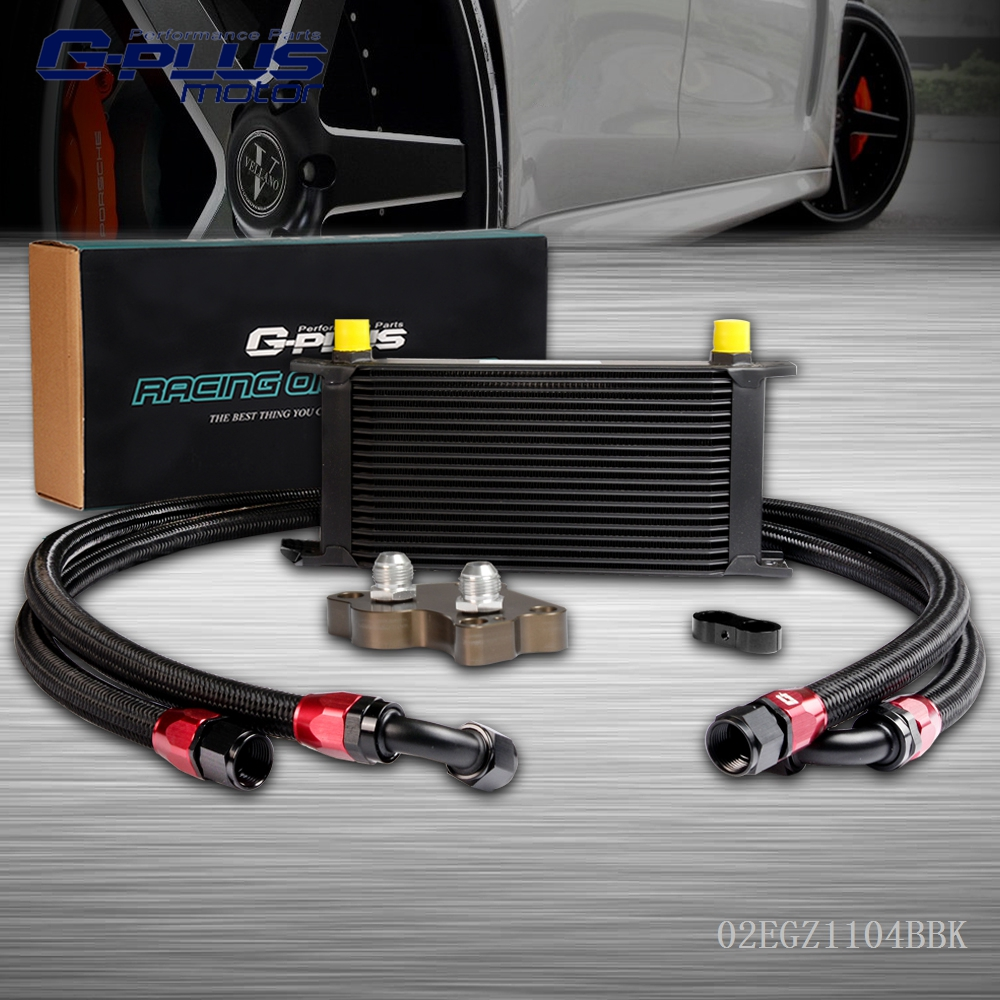 19 Row Engine Oil Cooler Kit For Mini Cooper S Supercharger R53 2001-2006