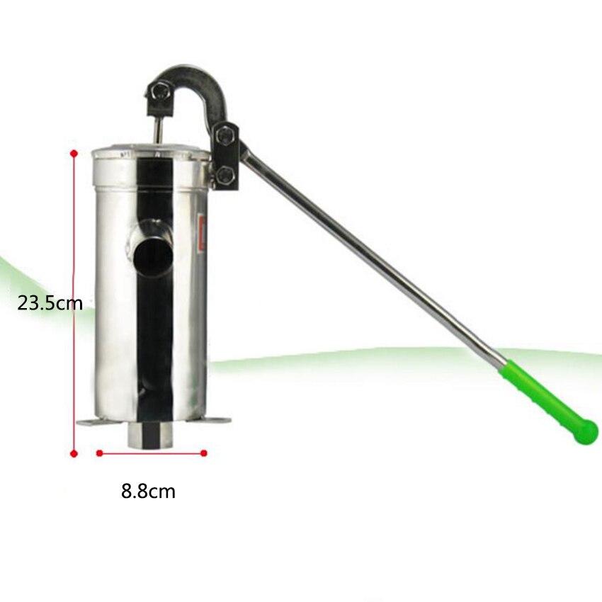 Em linha reta tubo distribuidor de bomba de Poço De Água Mão bomba Do Poço De Petróleo de aço inoxidável Elevador Max 10 m de altura 23.5 centímetros