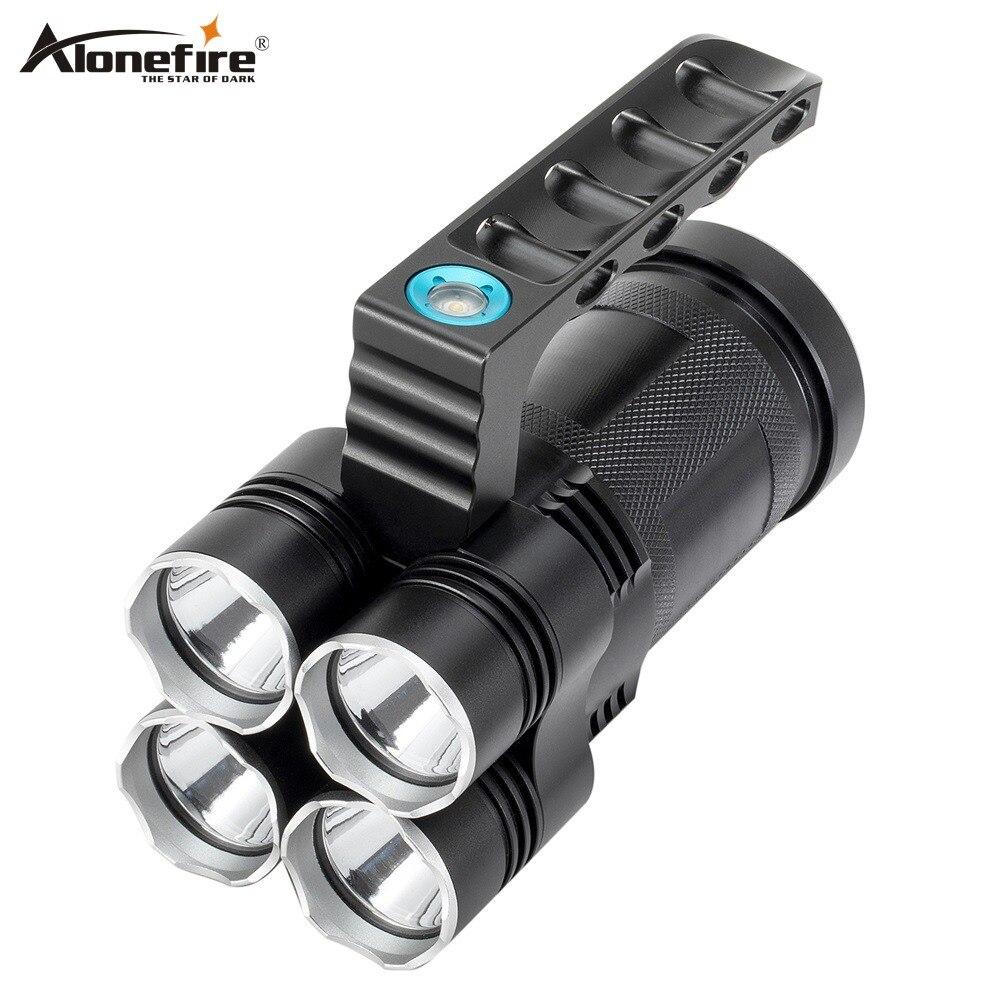 AloneFire HT04 Super Bright 30 W LED più Potente Torcia Elettrica Esterna Tenuto In Mano Portatile luci flash Faro Colpi di Lampada