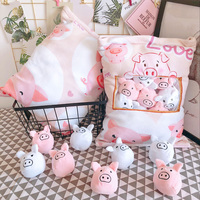 candice guo! Super cute plush toy cartoon soft love pig one bag piggy stuffed cushion pillow creative birthday Christmas gift 1p