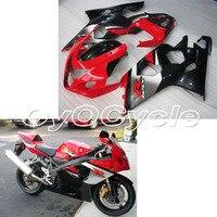 Для Suzuki 04 05 GSXR600 GSXR750 K4 GSXR 600 750 литой мотоциклетный ABS обтекатель кузова Комплект 2004 2005 красные, черные