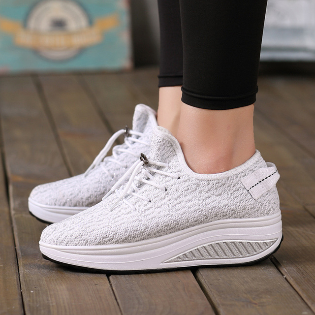 f547c70ecaa0 YZHYXS 2018 spring autumn women casual shoes mesh breathable flat platform  lace up walking shoes korean fashion ladies shoes