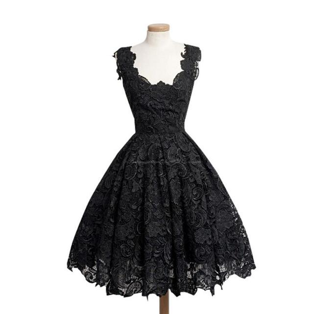 Lace Patchwork Dress Solid...