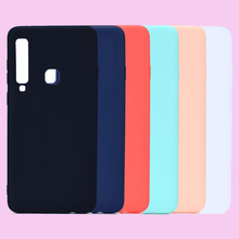 Fashion Candy Macaron Solid Colors Soft TPU Smartphone Silicone Cover Shell Coque Funda Capa for Samsung Galaxy A9 2018 Case