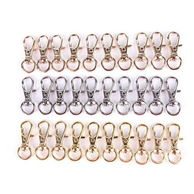 10Pcs Mini Rotatable Buckle Hook Lobster Key Chain Metal HIgh Quality Carabiner For Bag Parts & Accessories