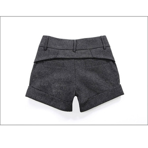 Image 5 - Free Shipping Womens Winter Spring Autumn Shorts Girls Fashion Mid Waist SlimHip Knickers New Arrival Elegant Woolen Shorts