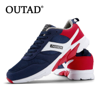 OUTAD Winter Comfortable Men Sport Running Shoes Cotton Men Male Anti Slip Rubber Sole Walking Sneakers