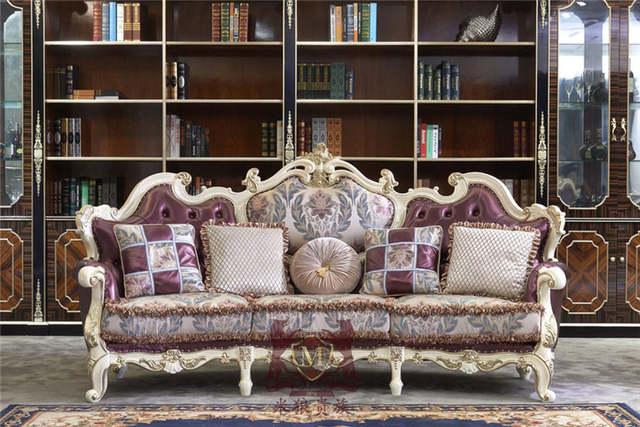 US $1500.0  Lusso classico divano del soggiorno set francese mobili  divani-in Arredo per sala da pranzo da Mobili su AliExpress