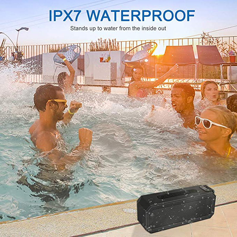 Image 5 - 40W Bluetooth Speaker IP7X Waterproof Portable Column Speakr Super Bass Subwoofer Soundbar Support FM Radio Type C USB Computer-in Portable Speakers from Consumer Electronics