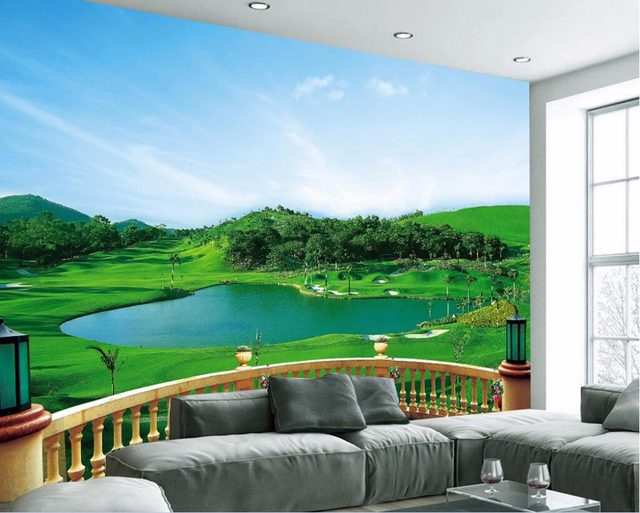 Online Shop Custom mural 3d photo wallpaper The balcony golf course