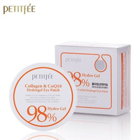 PETITFEE Collagen Co Q10 Hydrogel Eye Patch 60 Pcs Eye Mask Remover Dark Circle Puffiness Eye Bag Moisturizing Korea Cosmetics