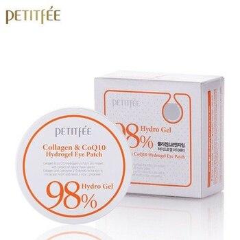 PETITFEE collagène Co Q10 Hydrogel Patch pour les yeux 60 pièces masque pour les yeux dissolvant cernes poches pour les yeux sac hydratant corée cosmétiques