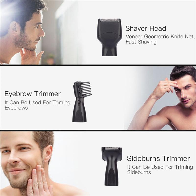 usb recarregável barbeador navalha homens rosto cuidados