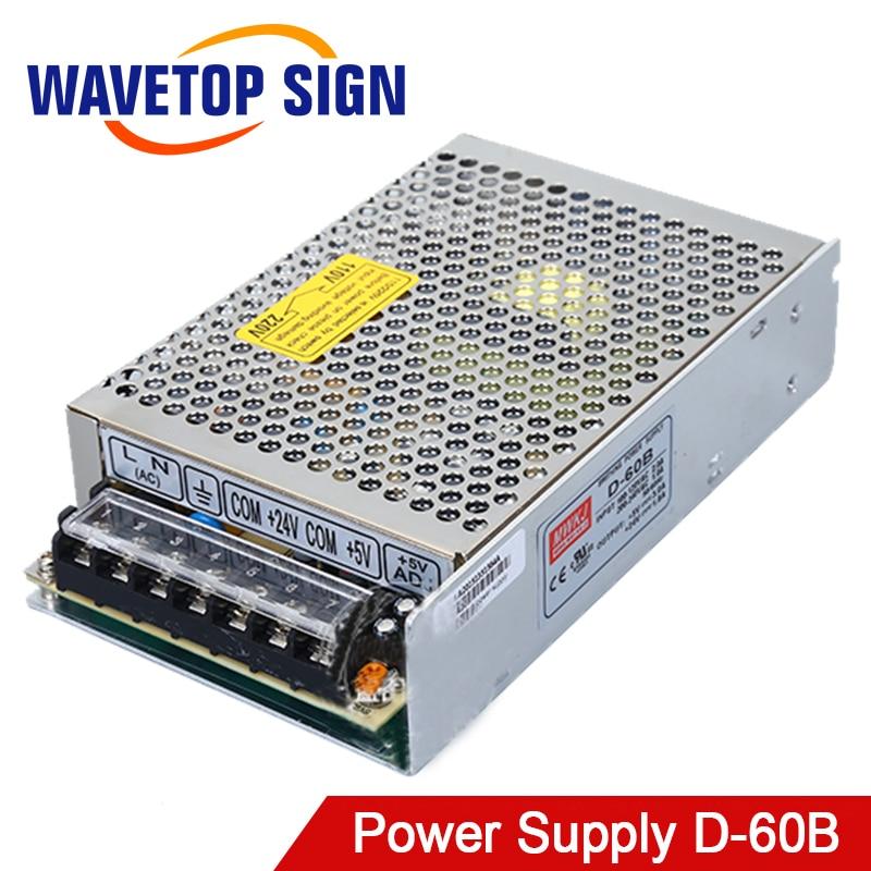 Meanwell Netzteil 5 V 3A D-60B eingang 115 230 V 50 60 HZ Ausgang 5 V 3A 24 V 1.8A für Laser Mark Maschine Controller