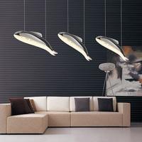 HGHomeart Modern Led Fish Pendan Lights Kids Room LEDs Living Room Bedroom Loft Lampes Suspendues Lighting Decorative Shade
