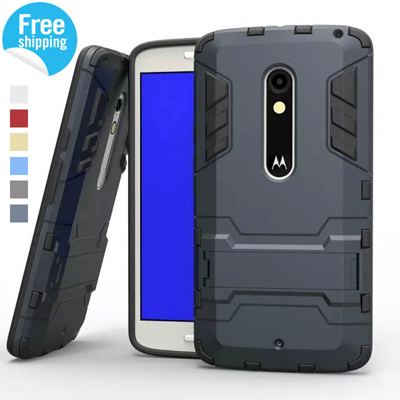 Hybrid Dual Heavy Duty Armor Stand Case For Motorola Moto X Play Case XT1563 2015 Cover For Motorola X Moto Play Cases Coque