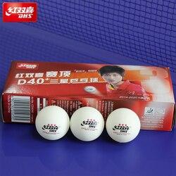 10 bolas/caixa mais novo dhs 3-star 1-star d40 + bolas de tênis de mesa material novo plástico poli ping pong bolas