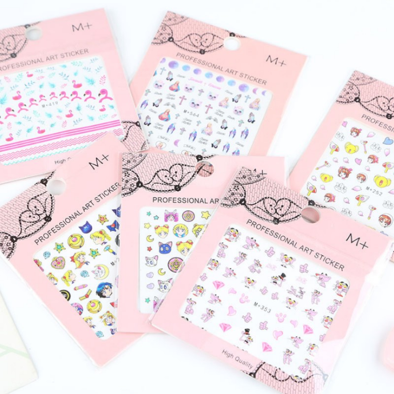 Very mini Beautiful girl pink panther fingernails stickers decoration DIY scrapbooking diary sticker children stationery gift