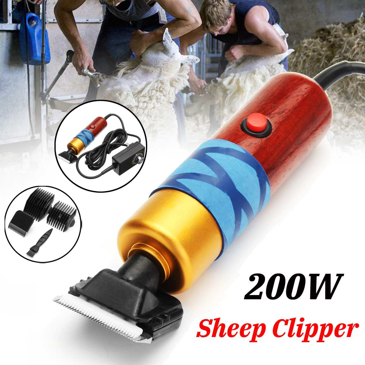 200W Electric Sheep Clipper Professional Dog Grooming Kit For Rabbit Pet Dog Grooming Tools 100-240V